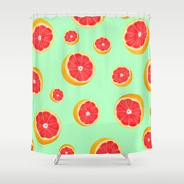 Mint Grapefruit Shower Curtain