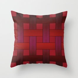 Ribbon weaving Throw Pillow