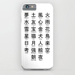 Japanese Alphabet Writing Logos Icons iPhone Case