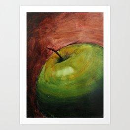 Fresh Green Apple Art Print