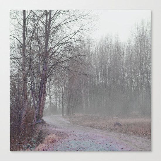 Walk in the Foggy Morning Canvas Print