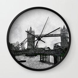 Life on the Thames - London, England Wall Clock