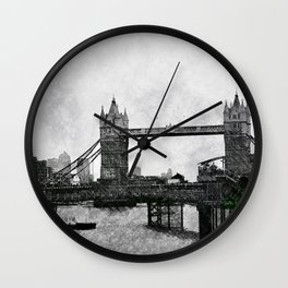 Life on the Thames - London, England Wall Clock