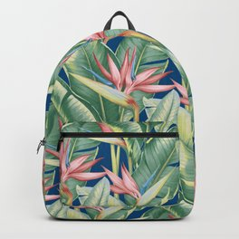 Flowers Birds of Paradise Backpack
