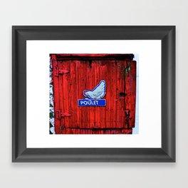 """""""Poulet"""" Barn Door Framed Art Print"""