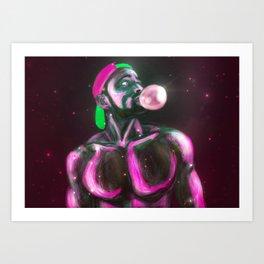 Cakepop Neon Art Print
