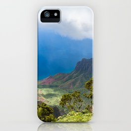 Kalalau lookout in Koke'e State Park - Kauai, Hawaii iPhone Case