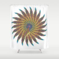 feather Shower Curtains featuring Feather by kartalpaf