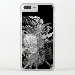 50 shades of lace Grey Silver Black Clear iPhone Case