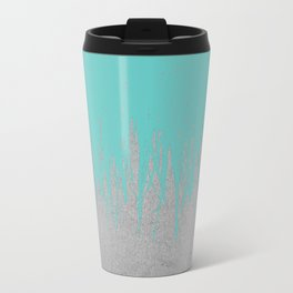 Concrete Fringe Turquoise Metal Travel Mug