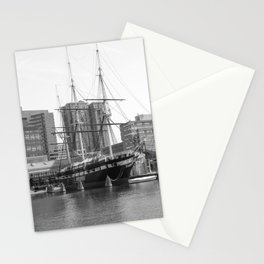 A US Frigate Ship in Baltimore, MD Stationery Cards