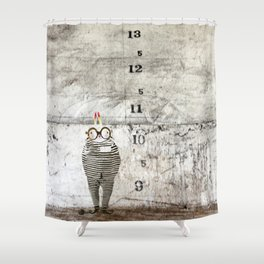 Jail time Shower Curtain