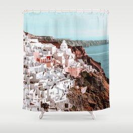 Santorini Greece, Fira Shower Curtain