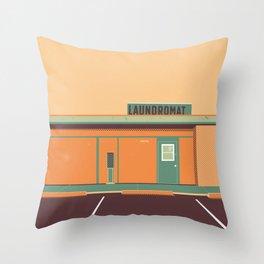 Desert Laundromat Throw Pillow