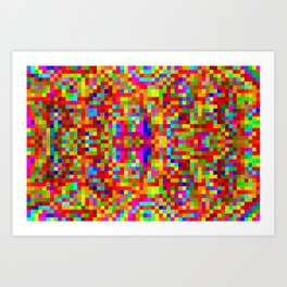 Colors in the bathrooms! ... Art Print