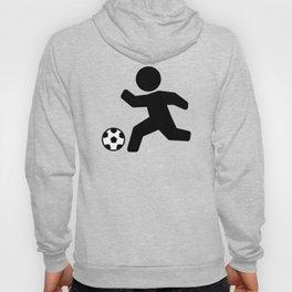 Stickfigure Soccer Player (Football) Hoody
