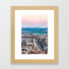 Sunset in the Lost World Framed Art Print