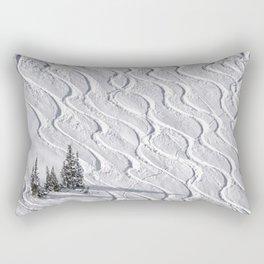 Powder tracks Rectangular Pillow