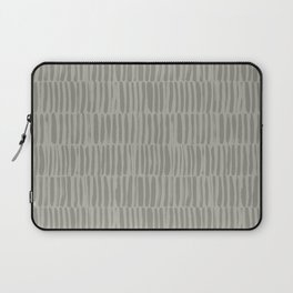 Gray brush strokes stripe seamless pattern Laptop Sleeve