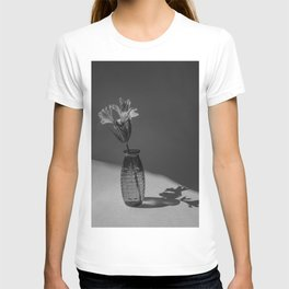 Shadow and flower T-shirt