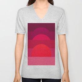 Abstraction_Sunset_001 Unisex V-Neck