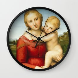 The Small Cowper Madonna Wall Clock