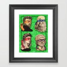 Renaissance Mutant Ninja Artists Framed Art Print