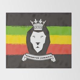Rasta Lion Throw Blanket