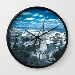 Saint Philip's Church in Blue Wall Clock