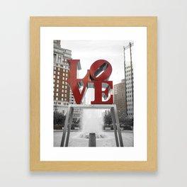 Love Park Part 2 Philadelphia Street Photography Framed Art Print