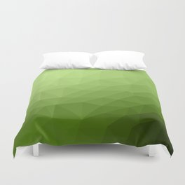 Greenery ombre gradient geometric mesh Duvet Cover