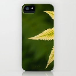 Plant Patterns - Leafy Greens iPhone Case