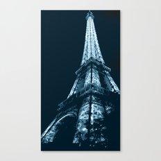 Eiffel Tower, blue Canvas Print