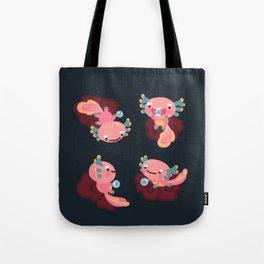 Umpearl the Axolotl Tote Bag