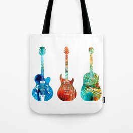 Abstract Guitars by Sharon Cummings Tote Bag