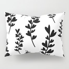 Plant doodles heart Pillow Sham