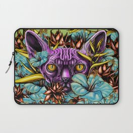 The Sphynx and the Flowers Laptop Sleeve