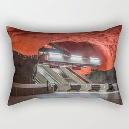 Solna Centrum Metro Station in Stockholm, Sweden III Rectangular Pillow