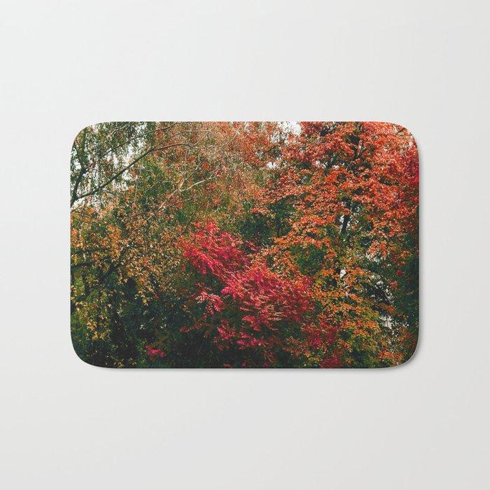 Autumn in the Garden Bath Mat