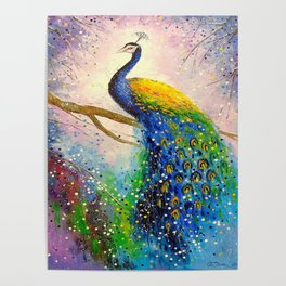 Gorgeous peacock Poster