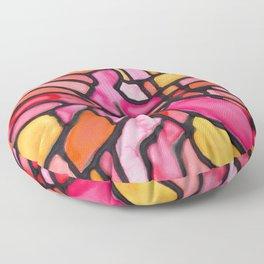 Sunset Soiree Medallion Floor Pillow