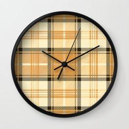 Gold Tartan Wall Clock