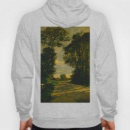 Claude Monet Impressionist Landscape Oil Painting Walk (Road of the Farm Saint-Siméon) 1864 Hoody
