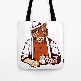 Tiger Poker Face Tote Bag