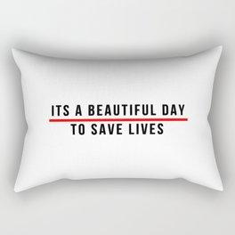 Save Lifes Rectangular Pillow