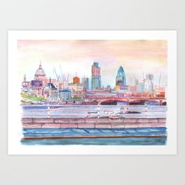 Colorful London Art Print