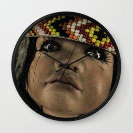 Native doll Wall Clock