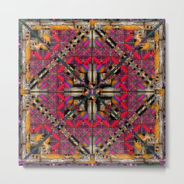 number 293  yellow pink multicolored Metal Print