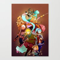 hyrule Canvas Prints featuring Hyrule Warriors by Breadtastesgood