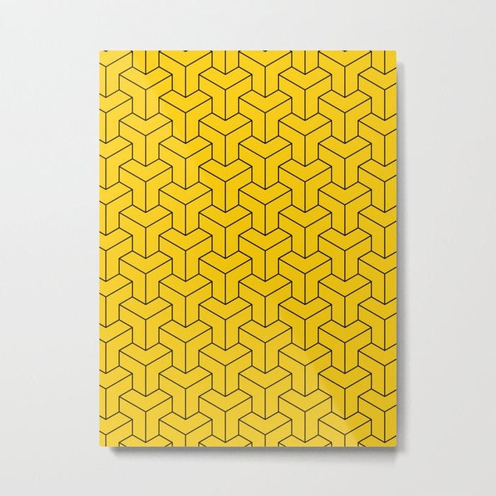 Interlocked Metal Print